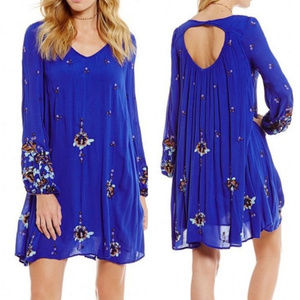 [Free People] Oxford Embroidered Mini Dress
